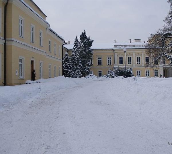 Pałac Czartoryskich zimą